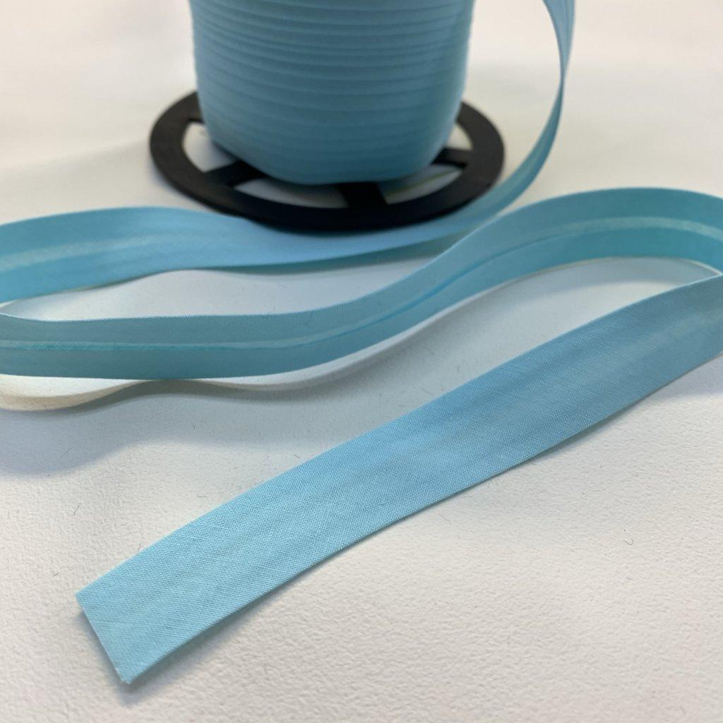 šikmý proužek bavlna 18 mm tyrkys (jemná)