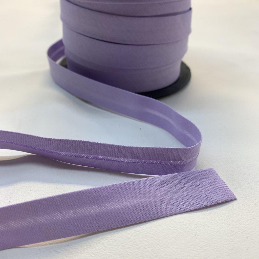 šikmý proužek bavlna 18 mm světle fialová