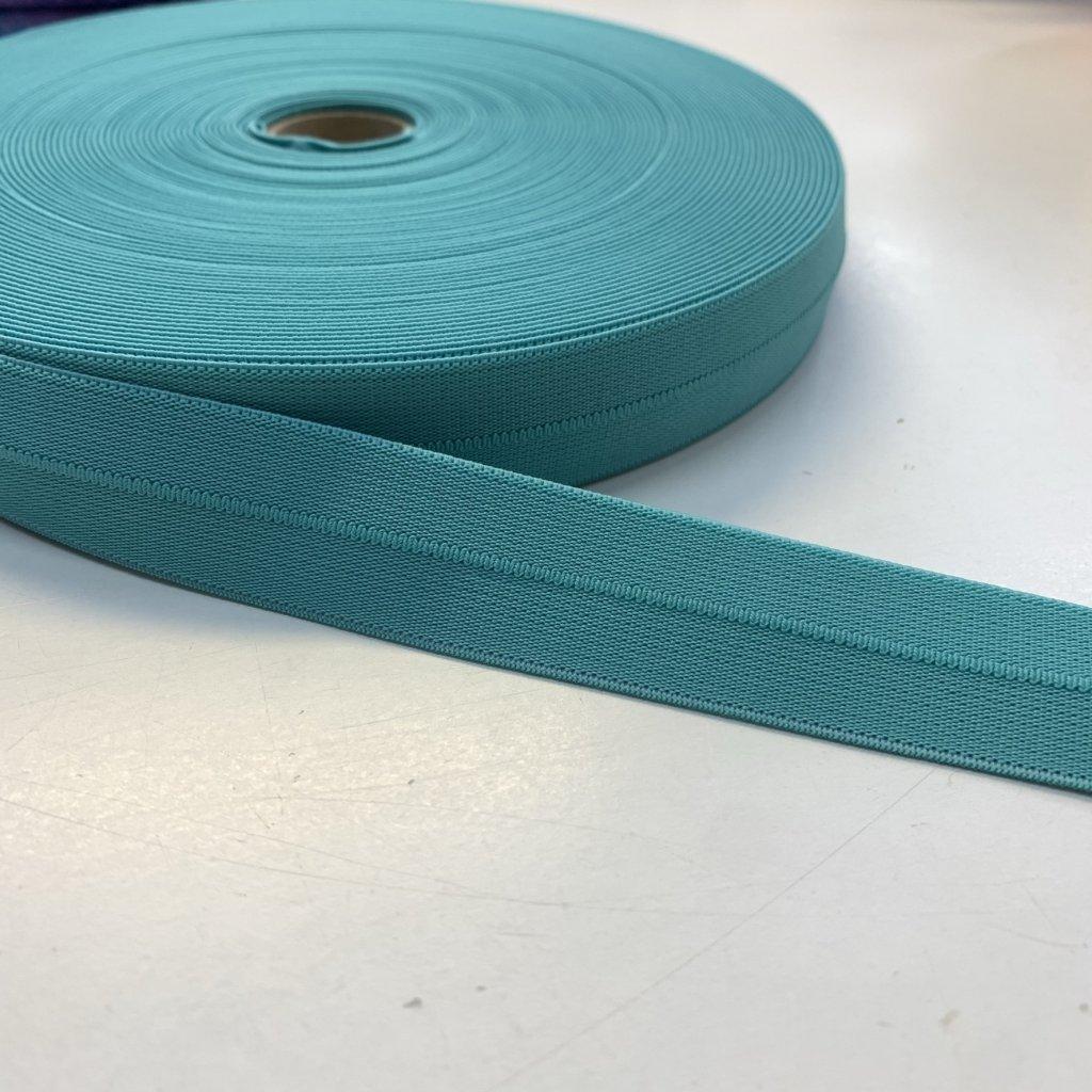 guma pruženka lemovací 25mm tyrkys/mint