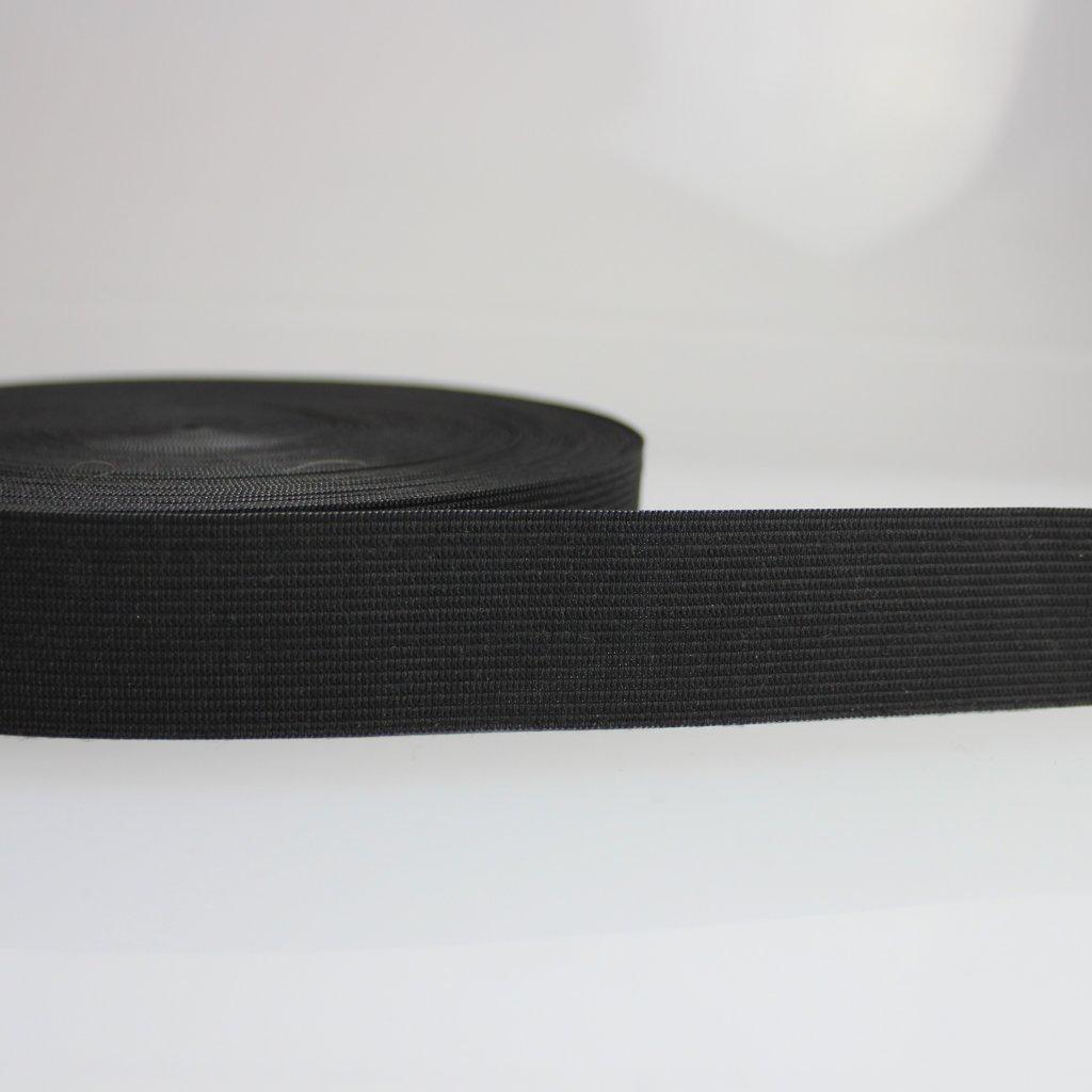 guma plochá galonová černá