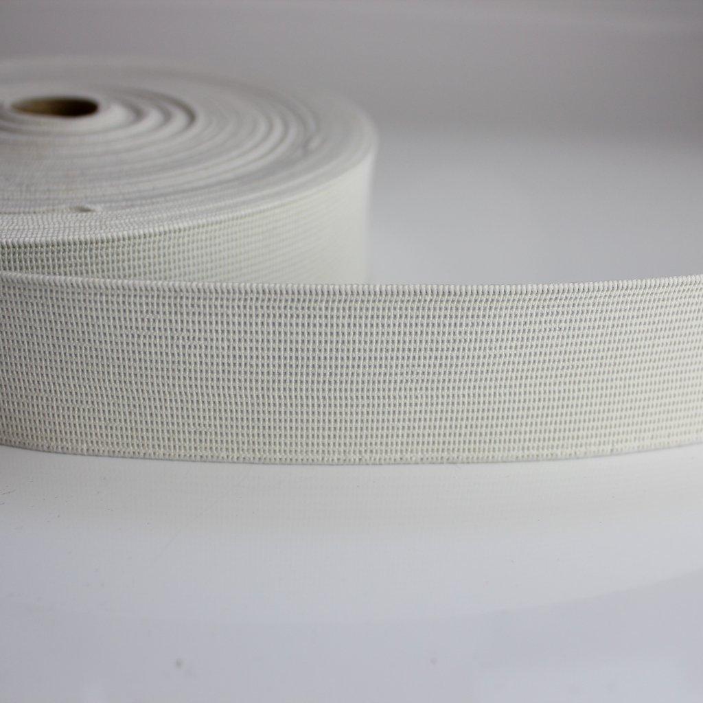 guma plochá pevnější 35mm bílá