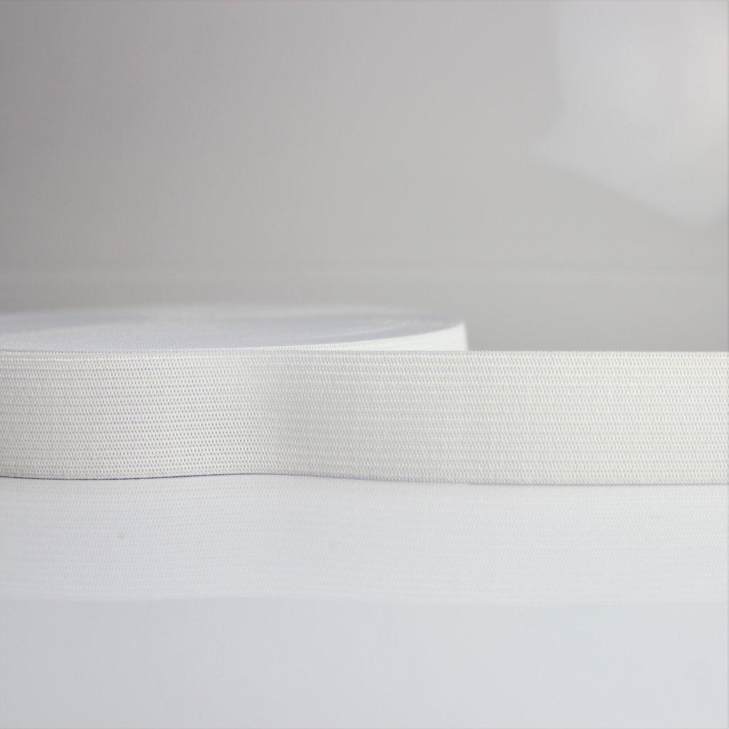 guma plochá galonová bílá