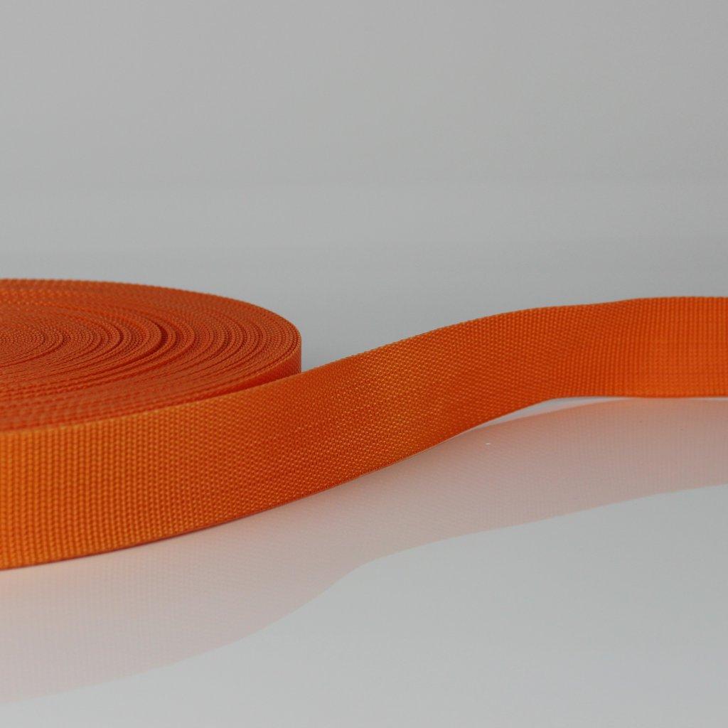 popruh 25mm - oranžová 157