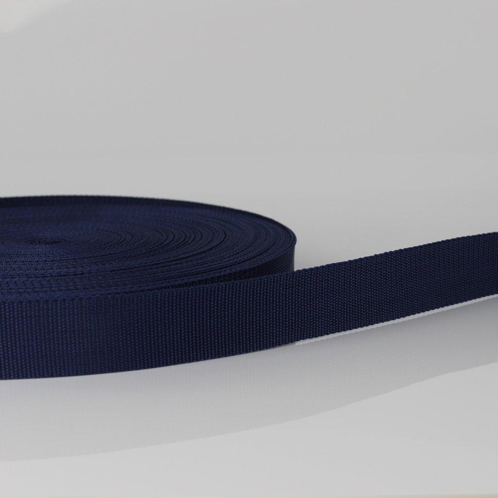 popruh 30mm - modrá navy 330
