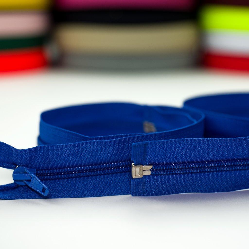 zip spirála No5 dělitelný modrá 340