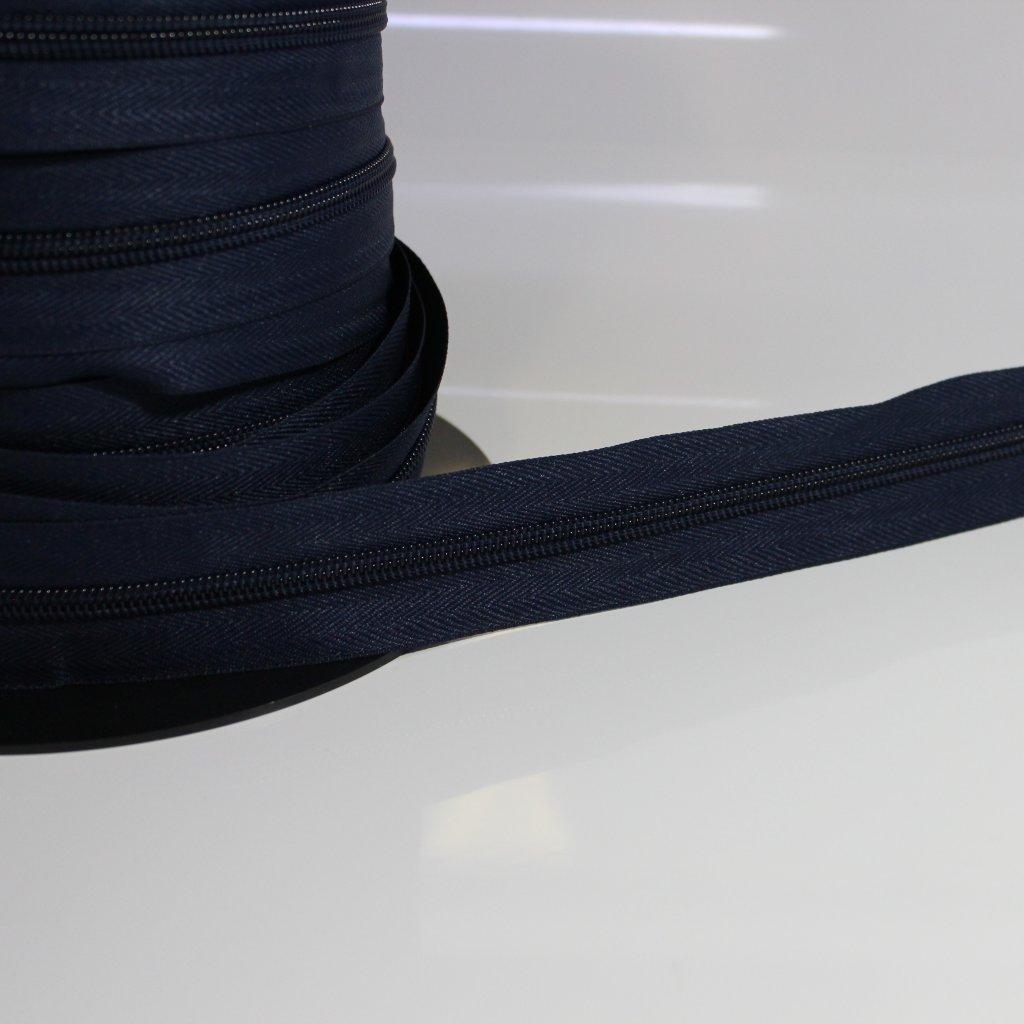 zip spirálový nekonečný No8 - modrá navy 330