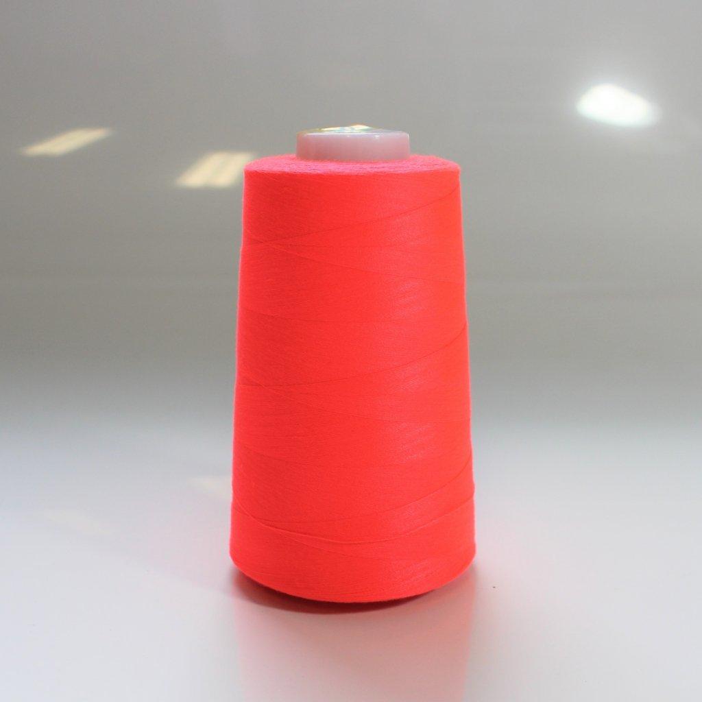 overlocková nit hard 5000Y reflexní růžovo oranžová 335