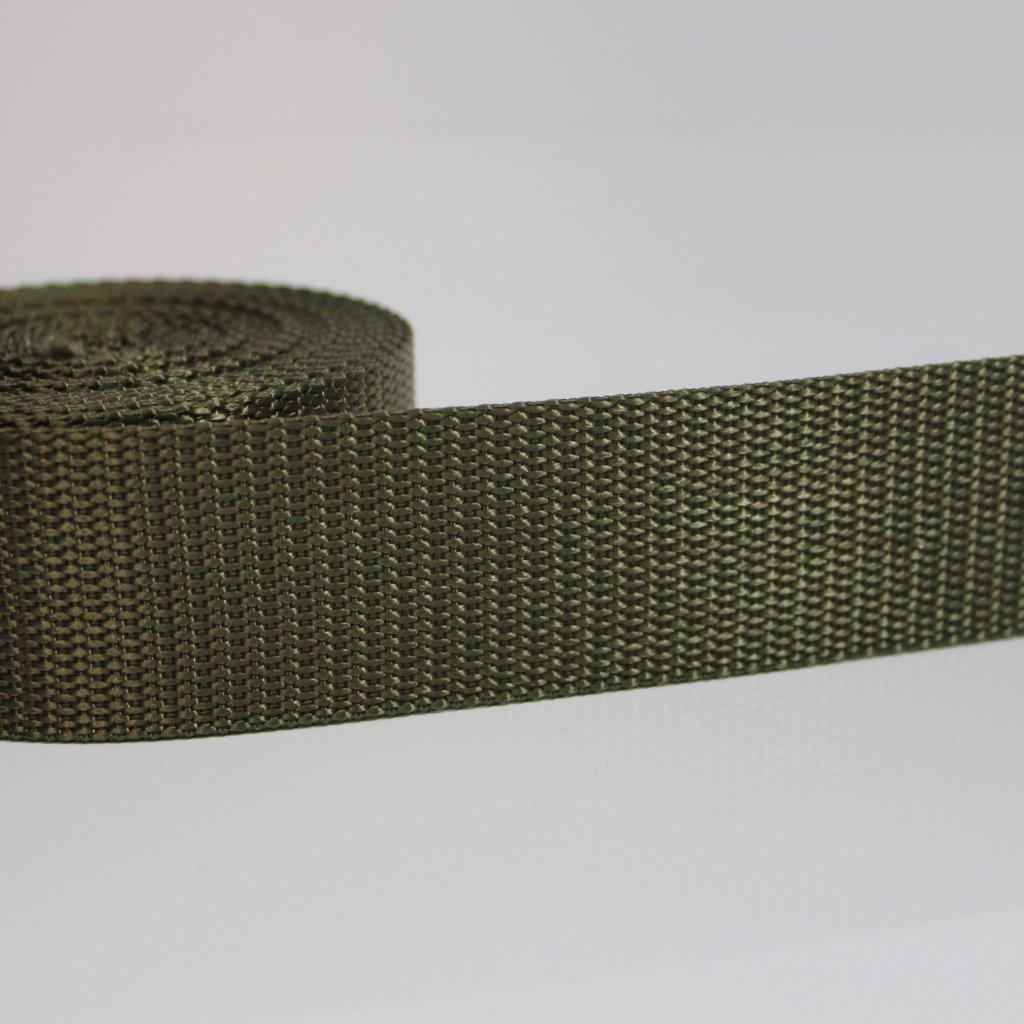 DOPRODEJ popruh 40mm zeleno hnědý 400409 (1)