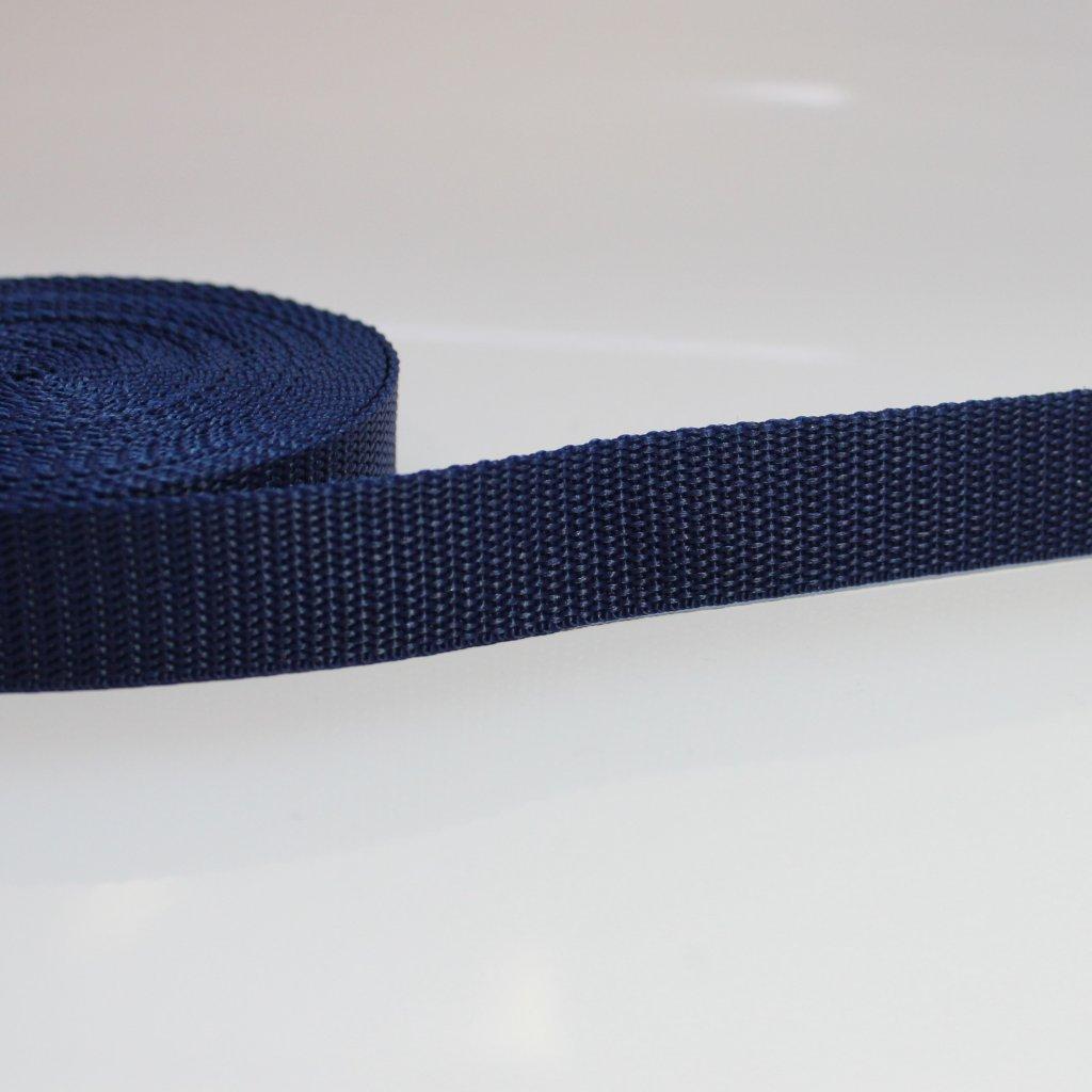 popruh 25mm - modrá navy 330