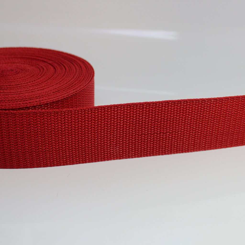 popruh 40mm - červená tmavší 162
