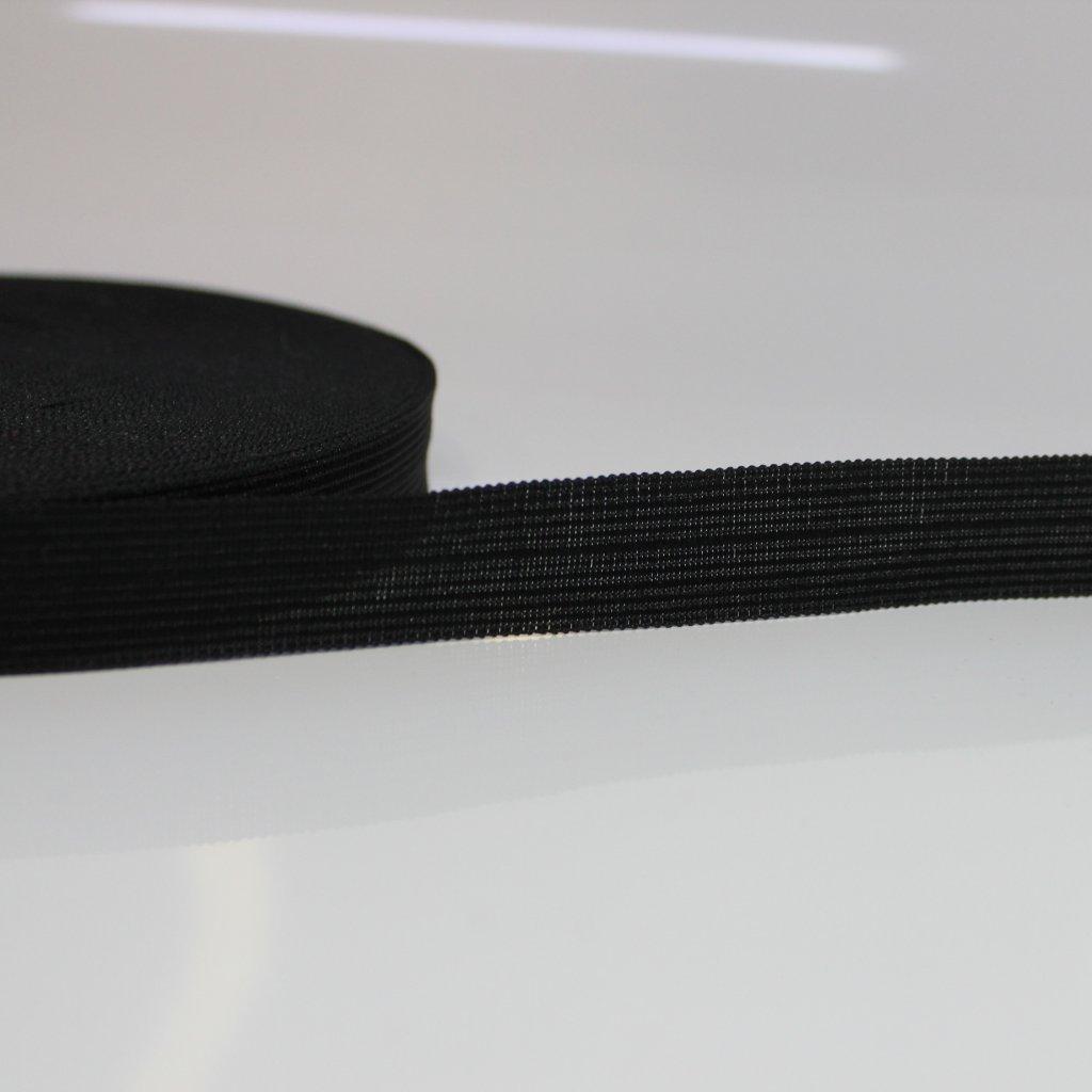lemovka silonová 20mm půlená - černá