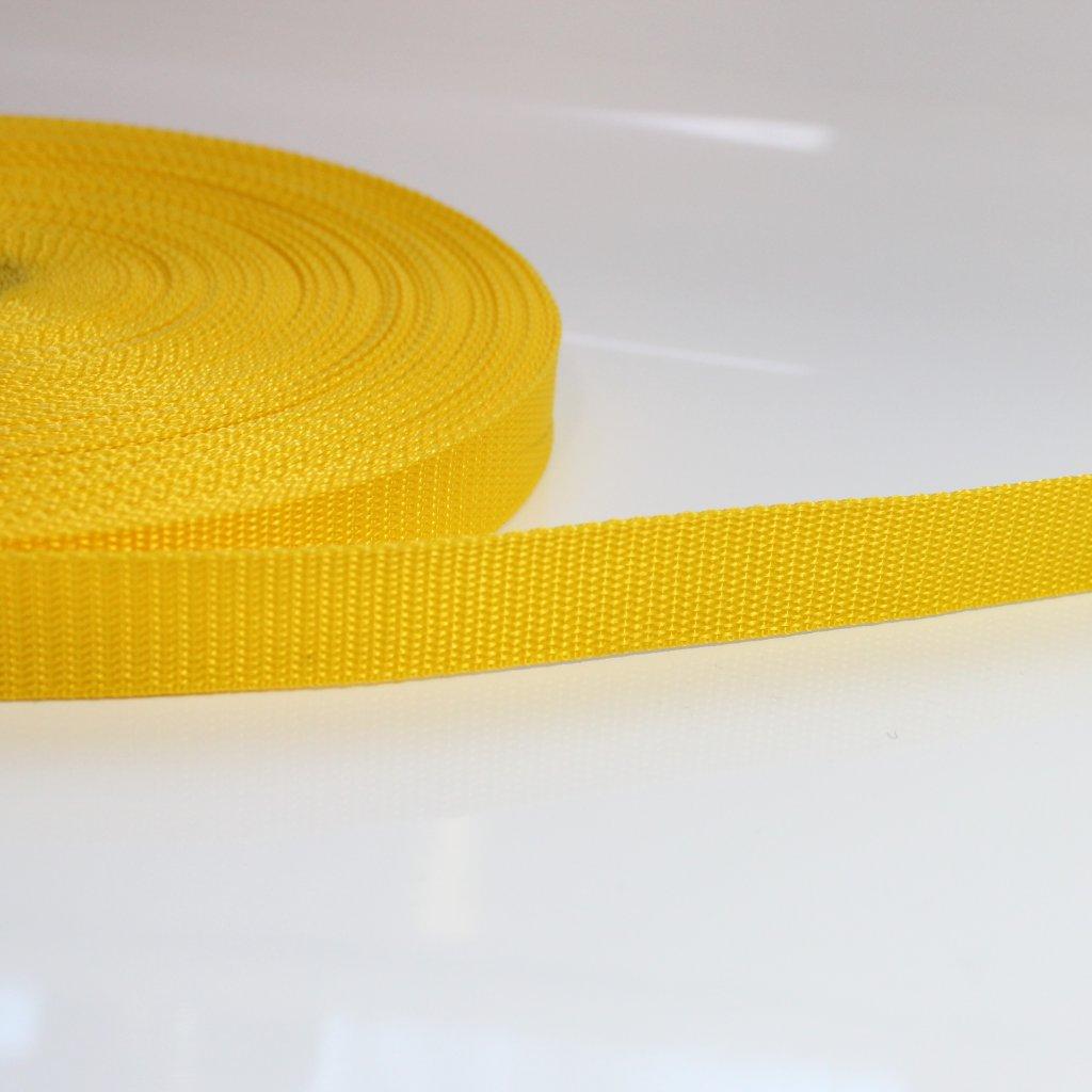 popruh 25mm - tmavě žlutá 3 DOPRODEJ!