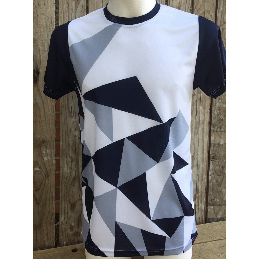 funkční tričko big triangle Black gray