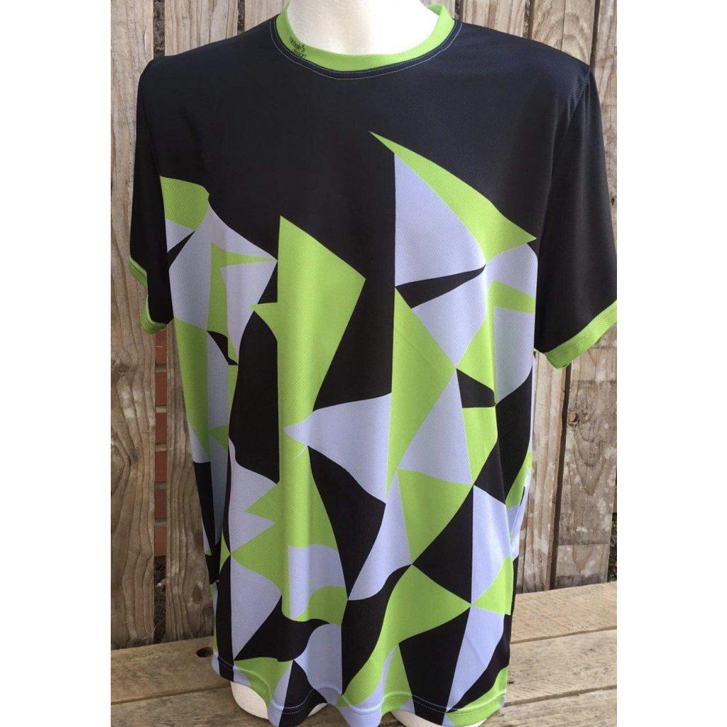 funkční tričko big triangle Green Black