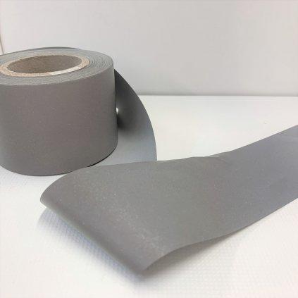 reflexní pásek 50mm stříbrný