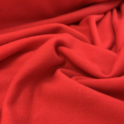 teplákovina nepočesaná 340g - červená