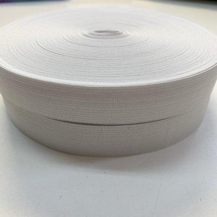 guma pruženka galonová 25mm bílá