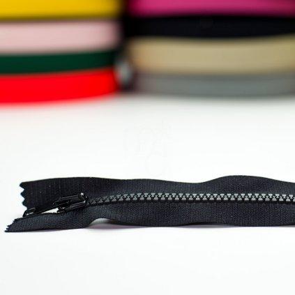 zip kostěný nedělitelný No6 14cm - černý