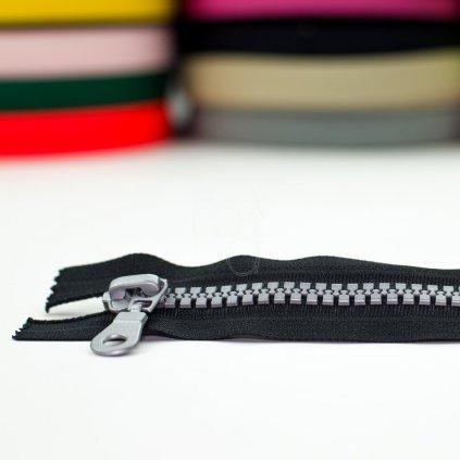 zip kostěný nedělitelný No10 16cm - černý