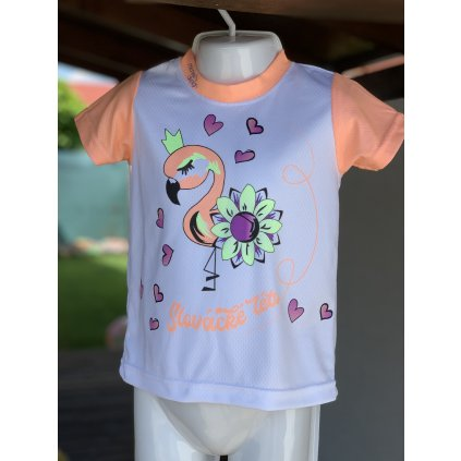dětské funkční tričko Slovácké léto plameňák oranžová