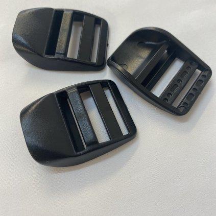 500321 spona žebříček 2,5cm černá (2)