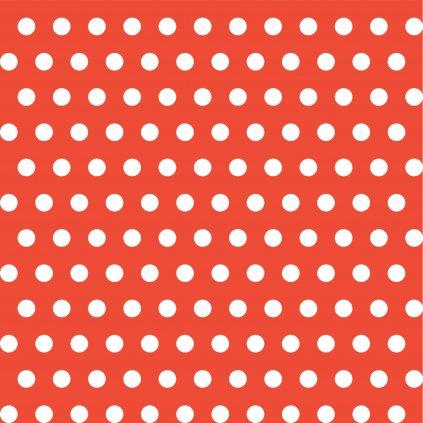 748031 PUNTÍK 1CM bílý na červené