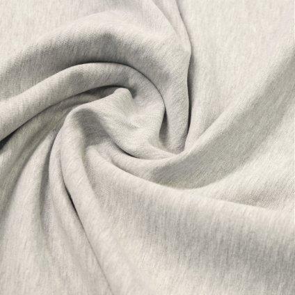 teplákovina nepočesaná s elastanem 290g, Světle šedý melír