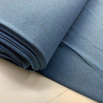 teplákovina/úplet s elastanem 290g - modrý melír
