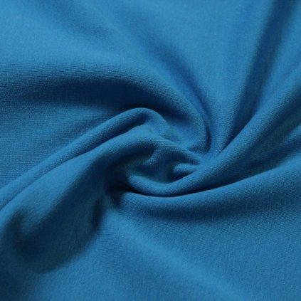 teplákovina nepočesaná s elastanem 290g, středně modrá