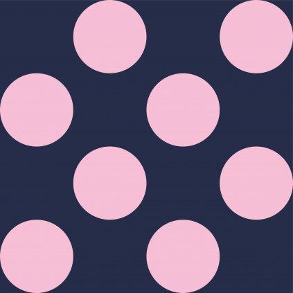 748153 PUNTÍK 10cm světle růžový na tm. modré