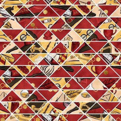 škola čar a kouzel červená doplňková 723006 (vyberte materiál zimní softshell elastický (šíře 150cm) 280g  10000/10000)