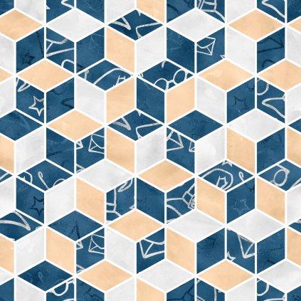 škola čar a kouzel modrá doplňková 723043 (vyberte materiál zimní softshell elastický (šíře 150cm) 280g  10000/10000)