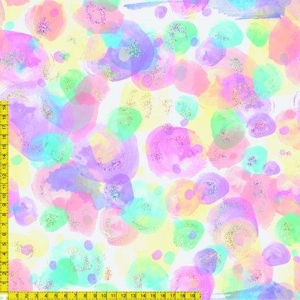 709030 duhový watercolor blobs