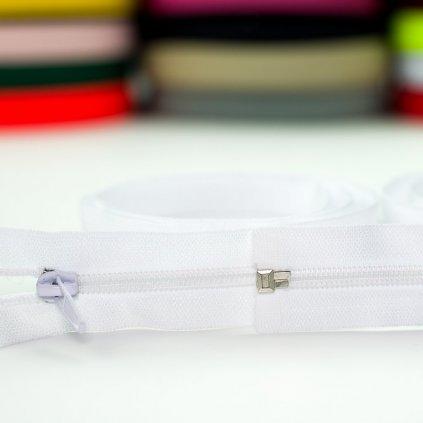 zip spirálový No5 dělitelný 45cm - bílý