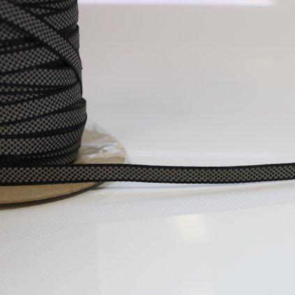 popruh 10mm - černý s reflexníma kostečkama