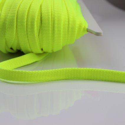 šňůrka plochá PES 8mm reflexní žlutá 300407