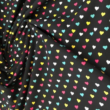 barevná srdíčka na černé 757020_1