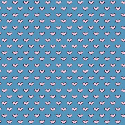 757006 růžová srdíčka na modré