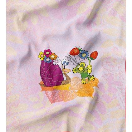 820052 Rákosníček na zahrádce šneček a jahody PANEL