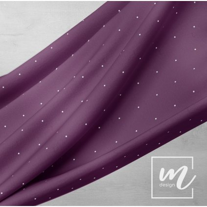 748151 puntík 2mm řidší bílý na fialové w