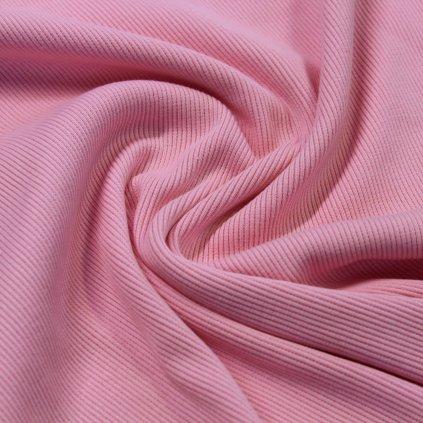 bavlněný náplet žebrovaný 430g, baby pink