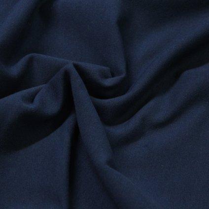 teplákovina nepočesaná s elastanem 290g, modrá navy