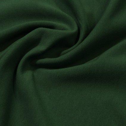 teplákovina počesaná 340g - lahvově zelená