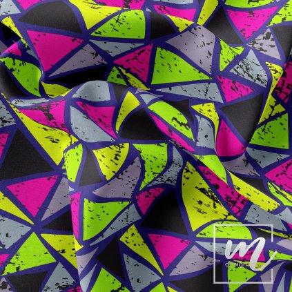 769002 2 trojúhelníky neon prsky na modré