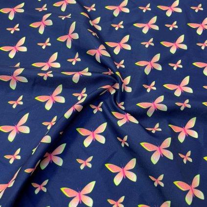 769004 3 butterfly neon na modré