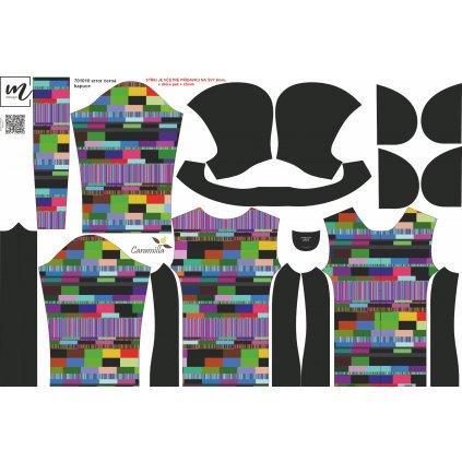bunda dětská Caramila klasik rukáv šablona 701010 error černá kapuce