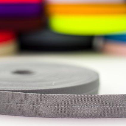 guma pruženka lemovací 25mm šedá
