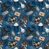 škola čar a kouzel na modré se sovou 723041 (vyberte materiál zimní softshell elastický (šíře 150cm) 280g  10000/10000)