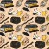 škola čar a kouzel žlutá na béžové 723016 (vyberte materiál zimní softshell elastický (šíře 150cm) 280g  10000/10000)