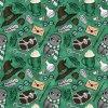 škola čar a kouzel zelená se sovou na zelené 723029 (vyberte materiál zimní softshell elastický (šíře 150cm) 280g  10000/10000)